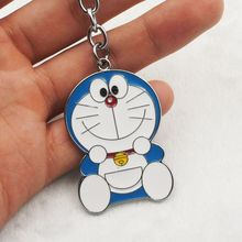 Hot Selling 7 Designs Fashion Anime Lovely Cartoon Keychain Doraemon Stand By Me Keyring 12 pcs/lot Wholesale Key Chain