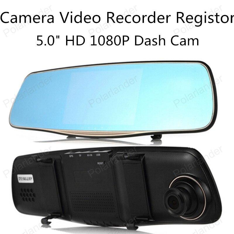 Vehicle DVR Car-Camera Rearview-Mirror Video-Recorder Dual-Lens 1080P HD Display-Screen