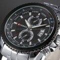 2016 CURREN 8149  роскошные Брендовые спортивные часы  мужские кварцевые часы  Авто Дата  платье  наручные часы  военные часы  мужские полностью ста...