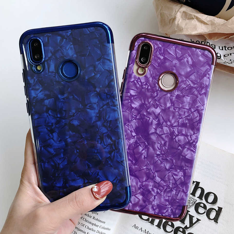 Marble Glitter TPU Silicone Case For Huawei P20 Pro P30 Lite P10 Nova 4 3 2 Mate 20 10 Honor Play 9 8X 7C Cover Soft Phone Cases