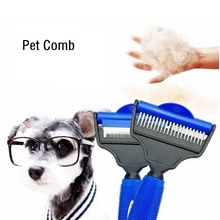 NEW Dogs Grooming Combs, De-matting Tools W/ 2 Sided Professional Slick Brush, Grooming For Long-Haired Dogs & Cats