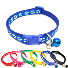 Easy Wear Cat Dog Collar With Bell Adjustable Buckle Dog Collar Cat Puppy Pet Supplies Cat Dog Accessories Small Dog Chihuahua(China)