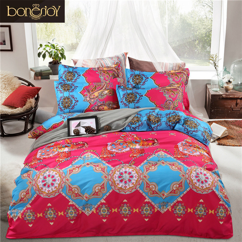 2017 China Luxury Bed Linen Boho Bedding Quilt Cover