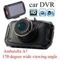 Cámara del coche DVR G90 HD Visión Nocturna de 170 grados de visión amplio ángulo carcam Grabador dash cam auto videocámara Ambarella A7 2.7 pulgadas