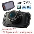 Câmera do carro DVR G90 HD Visão Noturna 170 graus de visão amplo ângulo traço cam Recorder auto carcam camcorder Ambarella A7 2.7 polegada