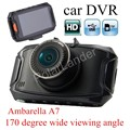 Car DVR Camera G90 HD Night Vision 170 degree wide viewing angle dash cam Recorder auto Ambarella A7 camcorder 2.7 inch carcam