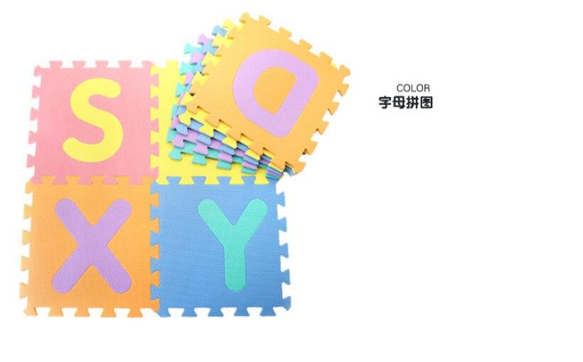 32,5 cm x 32,5 cm x 1 cm Tapis de Jeu pour Les Enfants avec 5 Mod/èles de Dessin Anim/é Puzzle Tapis Mousse B/éb/é 12 Pi/èces