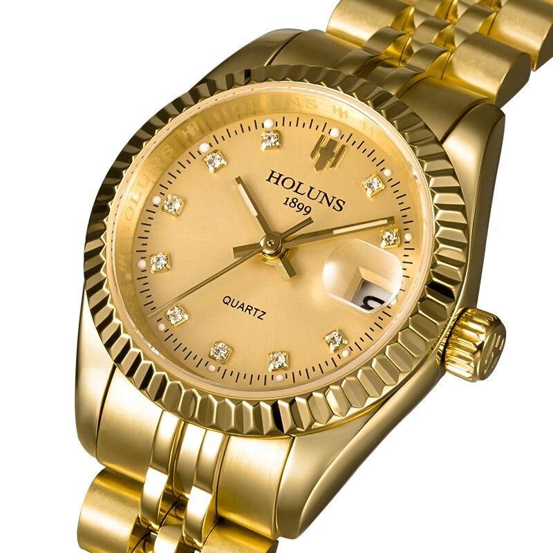 Kobiety zegarki Relogio Feminino 2019 złoty diament rolę bransoletka damska na rękę ekskluzywny zegarek dziewczyna zegarek kwarcowy eleganckie klasyczne zegarki dla kobiet w Zegarki damskie od Zegarki na  Grupa 1