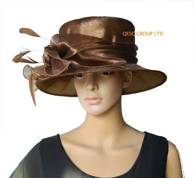 8b982434ff3 Aliexpress.com   Buy New arrival.Dress Organza Hat Bridal Wedding Hat  Formal Hat for Church