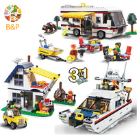 31052 792pcs City series Creator 3in1 Vacation Getaways Building Block Toy For Children Gift Decool 3117