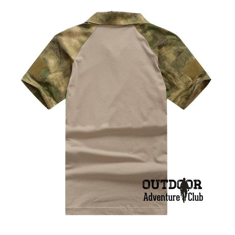 Refire gear летняя камуфляжная армейская боевая рубашка мужская Военная тактическая рубашка поло США страйкбольная камуфляжная рубашка поло с коротким рукавом