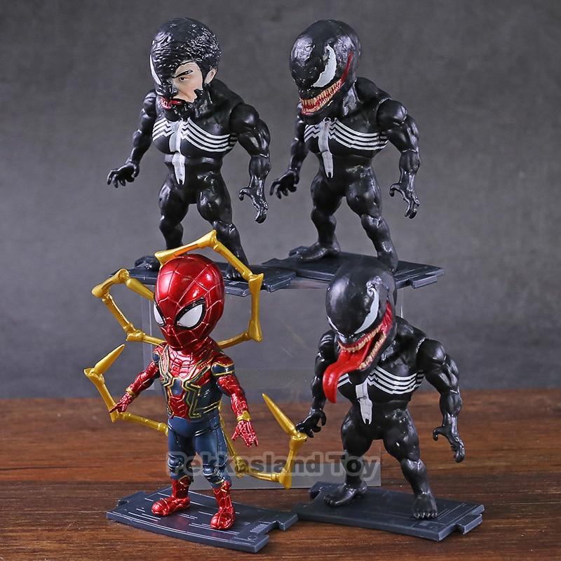 "2pcs Marvel Universe Venom PVC Action Figure Toys 6/"" Spider-man Series Doll Gift"