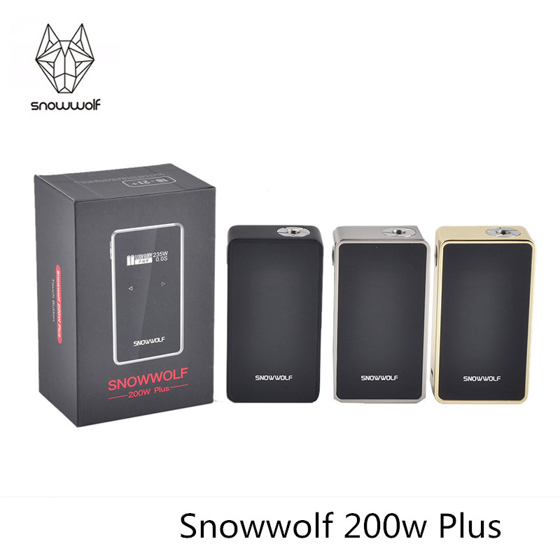 100% Original Snowwolf 200w Plus Electronic Cigarette Vape Mod 9 inch Big OLED with Touch Button Box Mod new big brothers money cigarette card case box holder