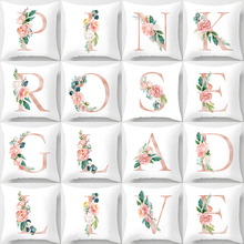 Simple 26 Letters Pattern print pillow case High Quality Home Textile Fashionable Nordic Style Cover Pillowcase
