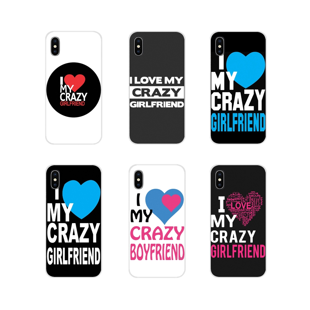 Accessories Phone Cover For Apple iPhone X XR XS MAX 4 4S 5 5S 5C SE 6 6S 7 8 Plus ipod touch 5 6 I Love My Girlfriend boyfriend image