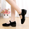 Mary Janes Women Casual Shoes Wedges Ballet Flats Canvas Dancing Shoes Women Summer Shoes Walking Brand Black Zapatillas Mujer
