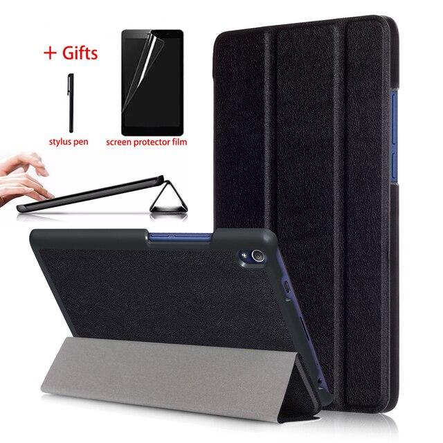 best website 95178 8de20 US $7.72 17% OFF|Smart Magnetic Case For Lenovo Tab3 8 Plus P8 TB 8703F TB  8703X Tablet Leather Cover For Lenovo Tab 3 8 Plus Case + Film + Pen-in ...