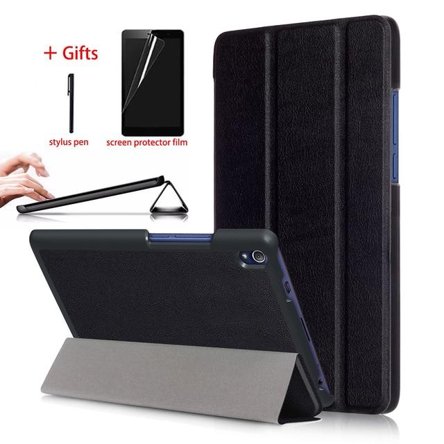 Thông minh Magnetic Trường Hợp Đối Với Lenovo Tab3 8 Cộng Với P8 TB-8703F TB-8703X Tablet Da Bìa Đối Với Lenovo Tab 3 8 Cộng Với trường hợp + Phim + Bút