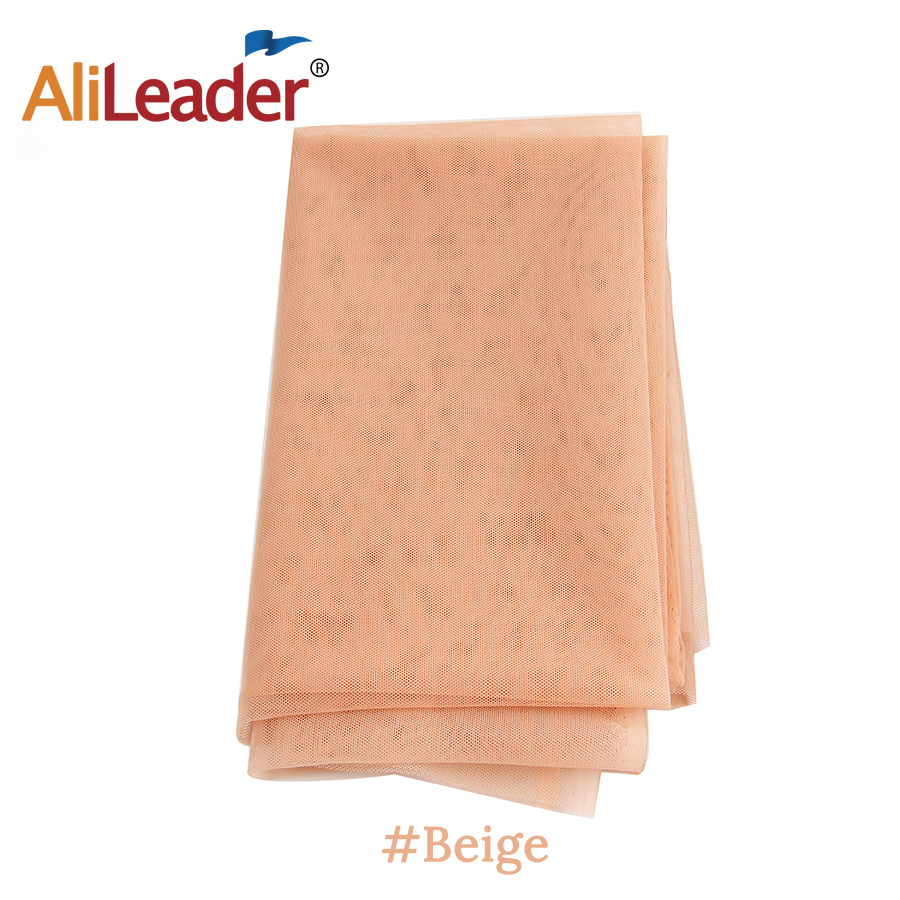 Alileader 1 Yard Light Brown Lace For Wig Making Wig Caps Lace Wigs Material Closure Frontal Foundation Wig Accessories Tools