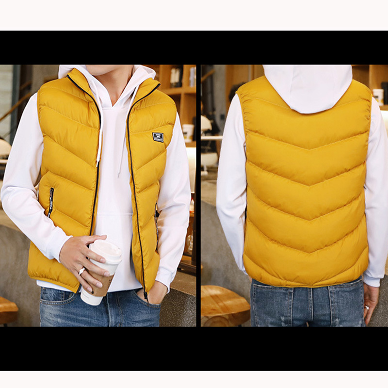 Image 4 - FALIZA 2019 Men's Vest Spring Winter Sleeveless Jacket And Coats Mens Waistcoat Warm Thick Casual Gilet Homme Male Vests MJ110-in Vests & Waistcoats from Men's Clothing