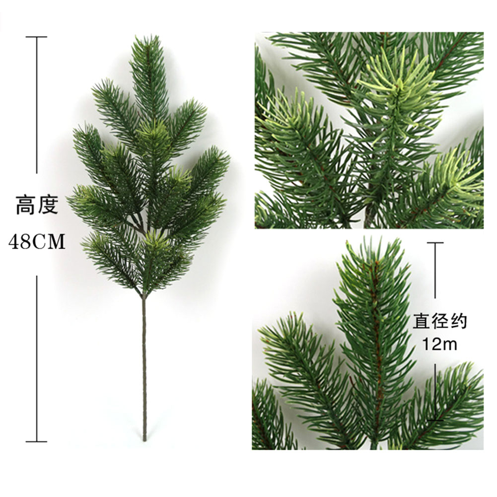 Image 5 - 48cm Artificial Plants Pine Branches Christmas Tree Wedding Decorations DIY Handcraft Accessories Children Gift Bouquet-in Artificial & Dried Flowers from Home & Garden
