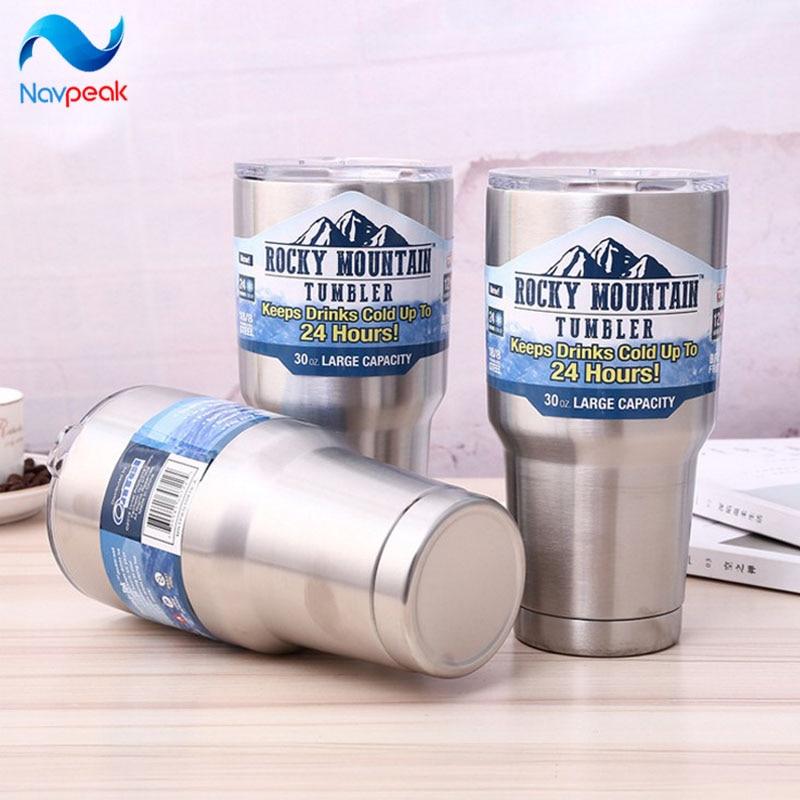Rocky Mountain Rocky Mt Silver Deluxe Tumbler Water Bottle 2 PC