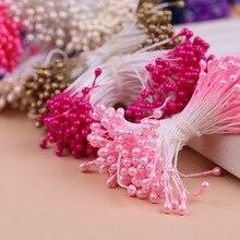 300 шт разноцветная жемчужная тычинка сахар ручной работы искусственный цветок для свадебного украшения DIY 3 мм Stamen Pistil цветочный