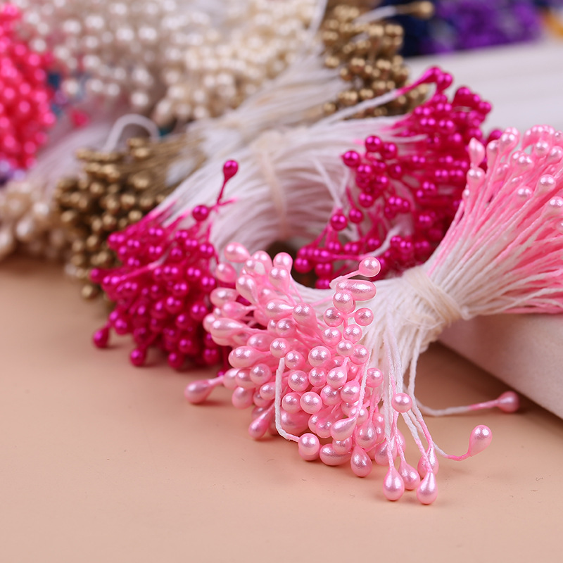 Stamen Sugar Pistil Artificial-Flower Pearl Floral Wedding-Decoration Handmade Multi-Colors title=