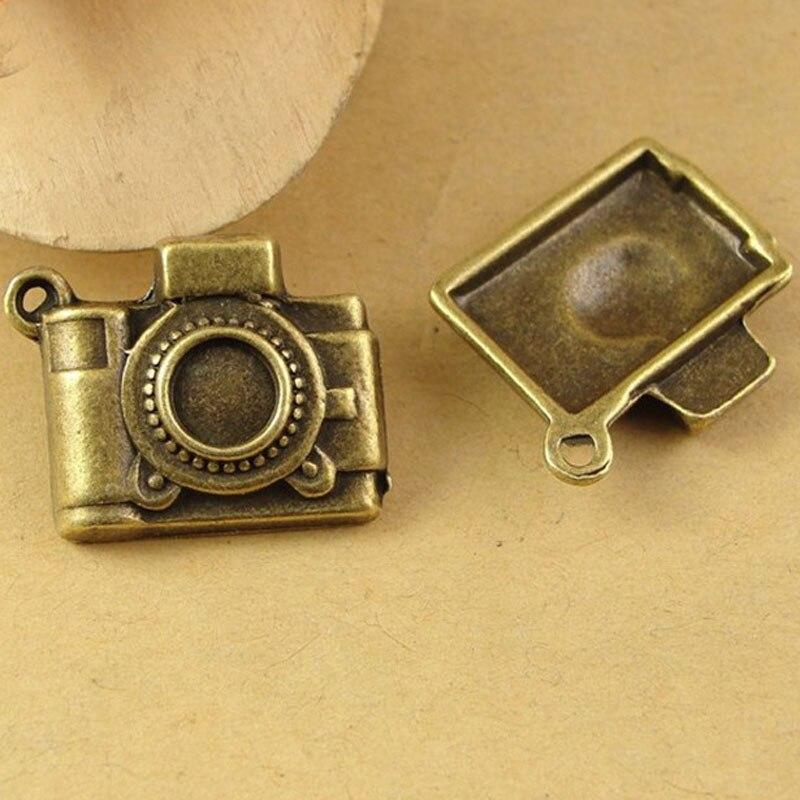 20pcs 20*17MM Antique Bronze camera charm pendant beads