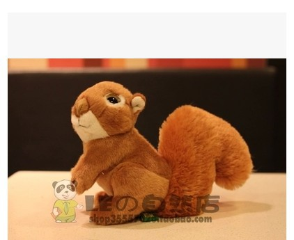 Free shipping 18cm  Squirrel Kawaii Squirrel Doll Plush Toys Simulation Animal For Children Gift one piece one piece super cute simulation owl plush toys doll animal kids gift baby toys kawaii plush anime model for children hot sale
