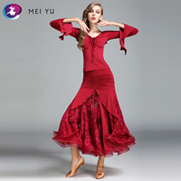 MEI YU MY781 and MY782 Modern Dance Costume Top and Skirt Suits Women Lady Dance Dress Ballroom Costume Evening Party Dress