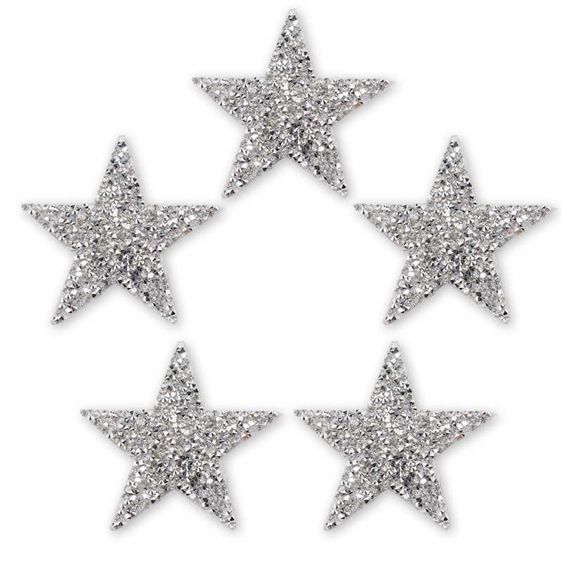 4cm 6cm 8cm 5pcs 10 teile/los Hotfix Strass Stern Patches Trim Eisen Auf Patch Applique Dekoration DIY Schuh, tasche, Kleidung