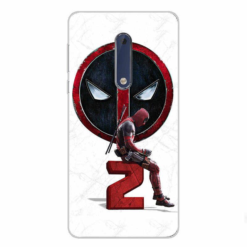 7 ciciber Para Nokia 8 7.1 6 6.1 5 5.1 3 3.1 2 2.1 1 Mais Suave Silicone TPU Claro para Nokia X7 X6 X5 X3 Phone Cases Capa Deadpool