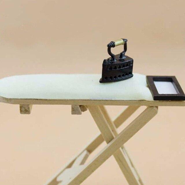 1 12 échelle Maison De Poupée Miniature De Fer Avec Planche à