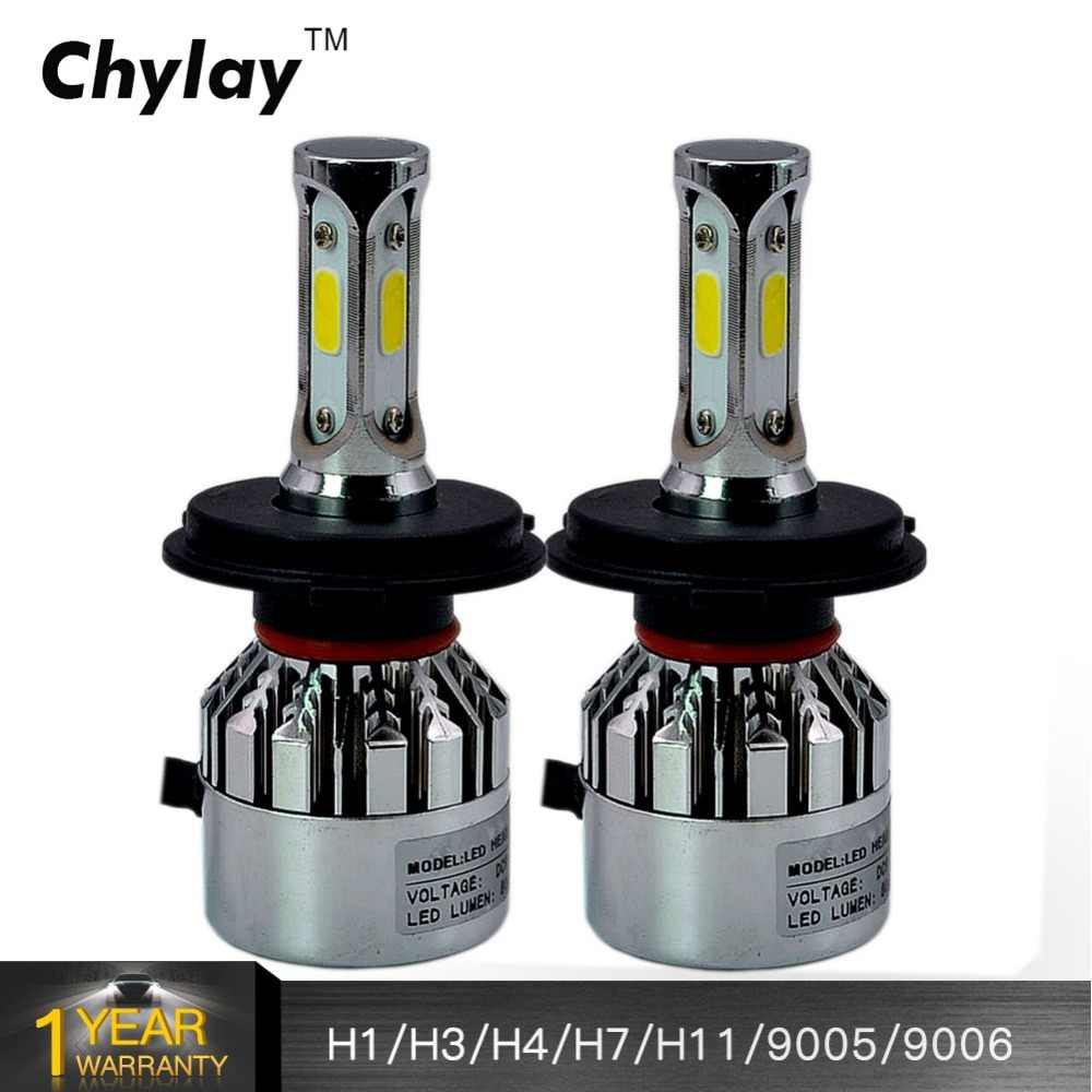 2Pcs H4 H7 LED Car Headlight Kit 72W 8000LM/Set H1 H3 H11 H8 H9 9005 HB3 9006 HB4 6000k Auto Led Lamp Bulbs Car Accessories 12V
