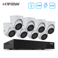 H.VIEW 5mp CCTV Camera Security System Kit Camera Video Surveillance CCTV Cameras Security System Kit PoE Video Surveillance IP