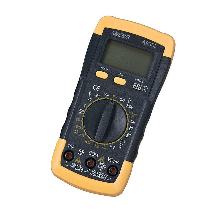 1 unid LCD Multímetro Digital Del Amperímetro Del Voltímetro Ohmmeter Actual equ