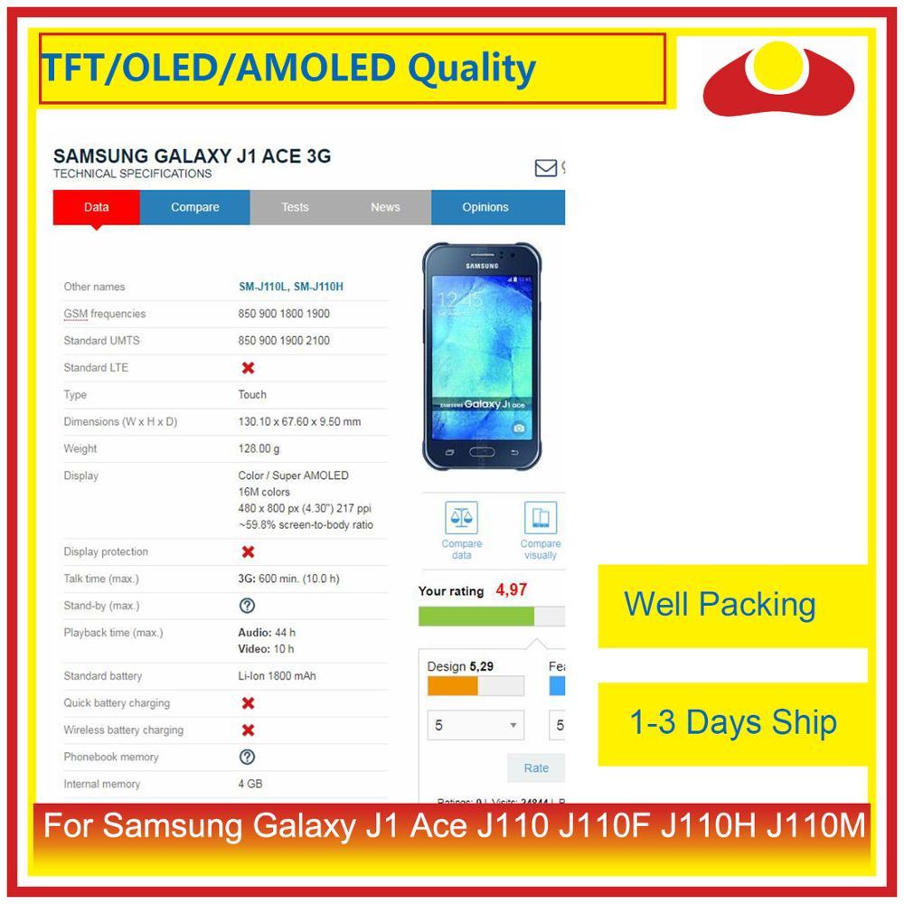 """Image 2 - Оригинальный 4,3 """"для Samsung Galaxy J1 Ace Sm J110 J110 J110F J110 ЖК дисплей с сенсорным экраном дигитайзер панель в сборе-in ЖК-экраны для мобильного телефона from Мобильные телефоны и телекоммуникации"""
