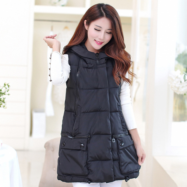 Women Vest New Trend Leisure Long Slim Candy Color Plus Size Mandarin Collar Solid Color Vests Outerwear Colete Feminino Y82778D