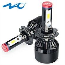 Светодиодные фары NAO H7, Автомобильные светодиодные лампы H7, все в одном, дизайнерская автомобильная лампа 72 Вт, 6000 лм, белая, K, 12 В, 24 В, K1
