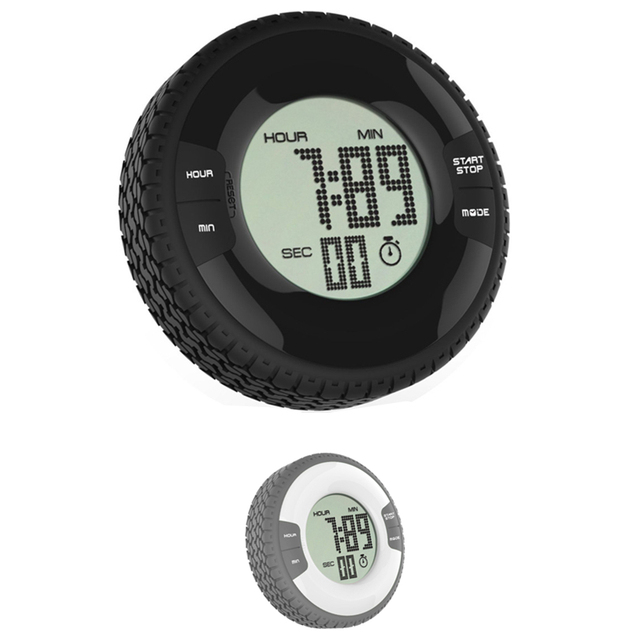 Kitchen Timers Install Cabinets Creative Tyre Shape Lcd Digital Timer Round Portable Magnetic Countdown Alarm Clock Tool Wholesale 30je12