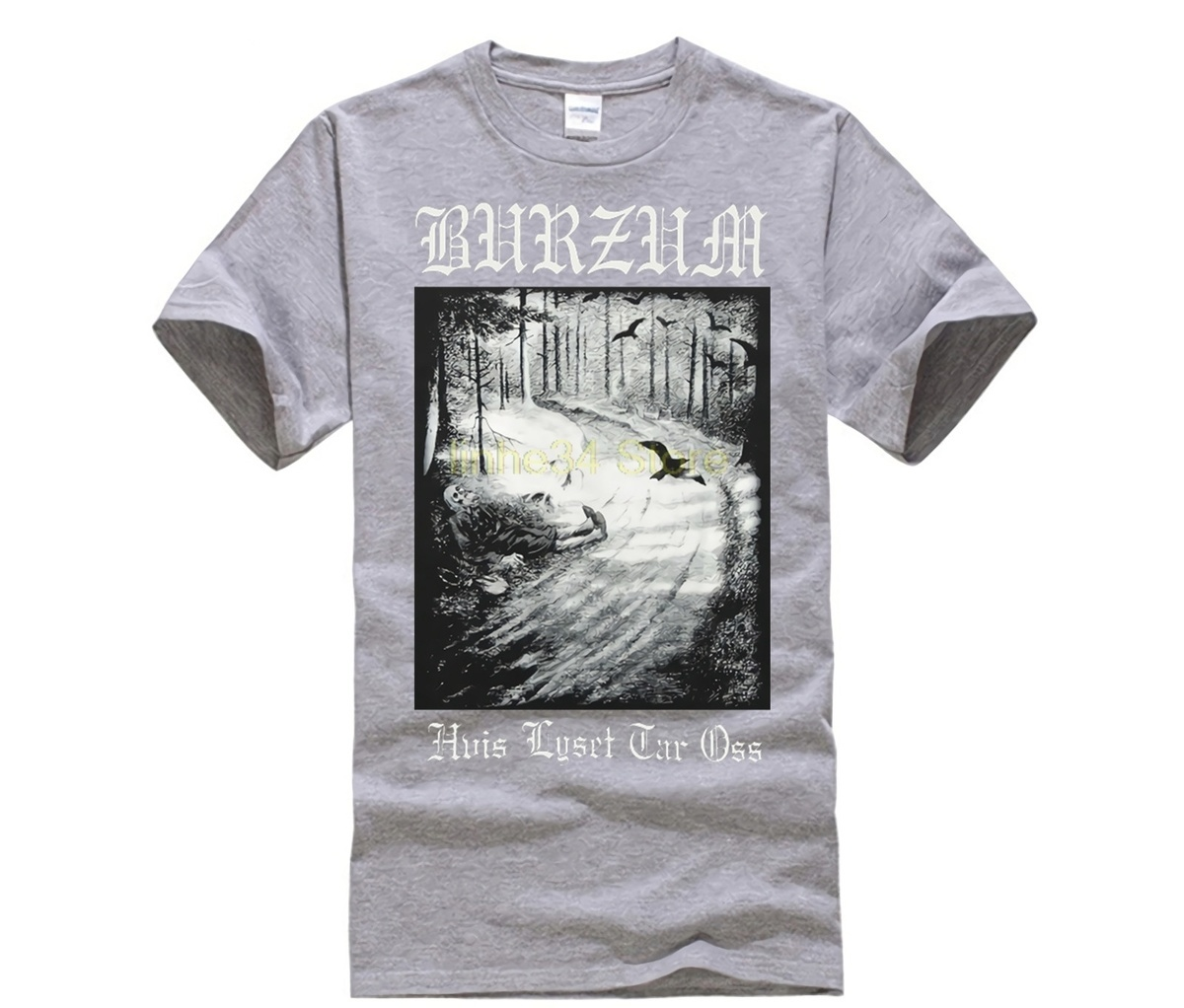 O neck Hipster Tshirts Burzum Hvis Lyset Tar Otshirt Black Short Sleeve Men 39 s T shirt Bem166 Casual Cotton in T Shirts from Men 39 s Clothing