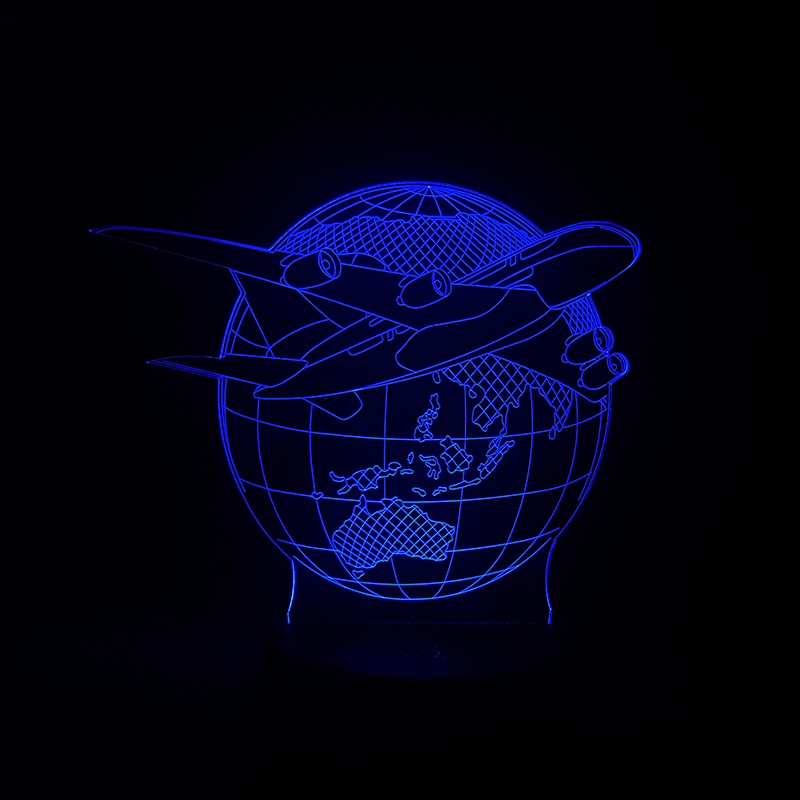 Luzes da Noite lâmpada 3d aviões de plano Function 2 : Led Bed Lamp/table Desk Lighting/bar Light