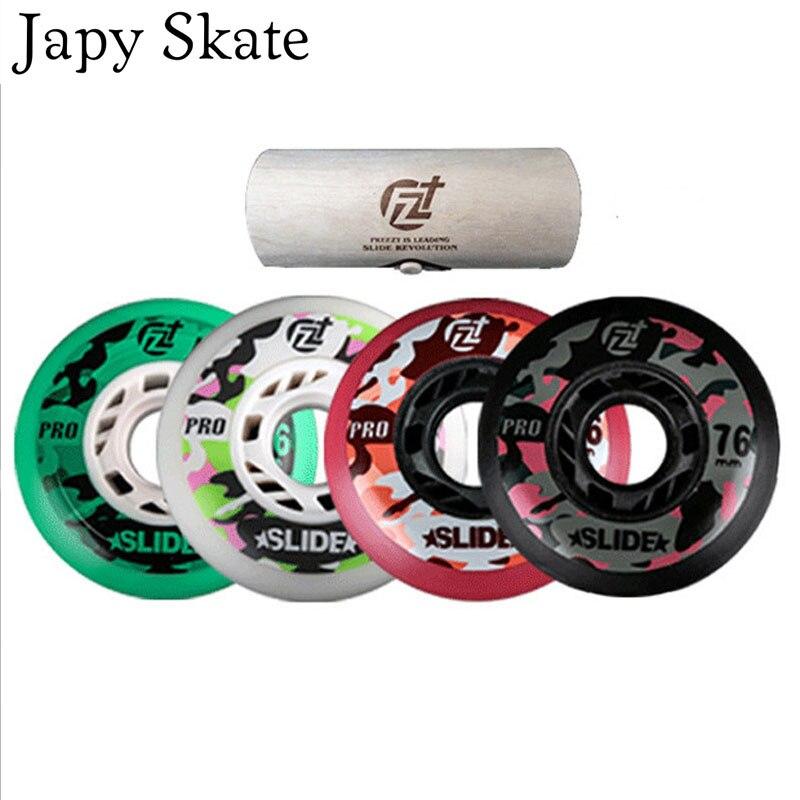 Prix pour Jus japy Skate D'origine Freezy Camouflage Collection De Patinage Roues 90A FZ Slide-Pro Patins à roulettes Roues Pour SEBA FSK