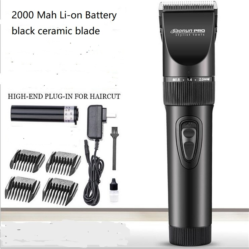 Professional Electric Barber Trimmer Precision Clipper Face Haircut Barbershop Ceramic Blade Hairstyling Clipper Razor Hairdress