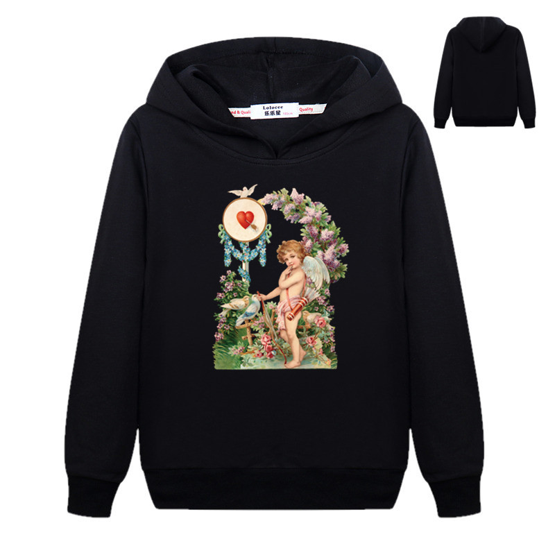 Genial Jungen Mädchen Amor Engel Liebe Sweatshirt Frühling Mode Pullover Hoodies Dünne Grundlegende Mantel 3-14years Wir Nehmen Kunden Als Unsere GöTter Mädchen Kleidung Pullover Sweatshirts