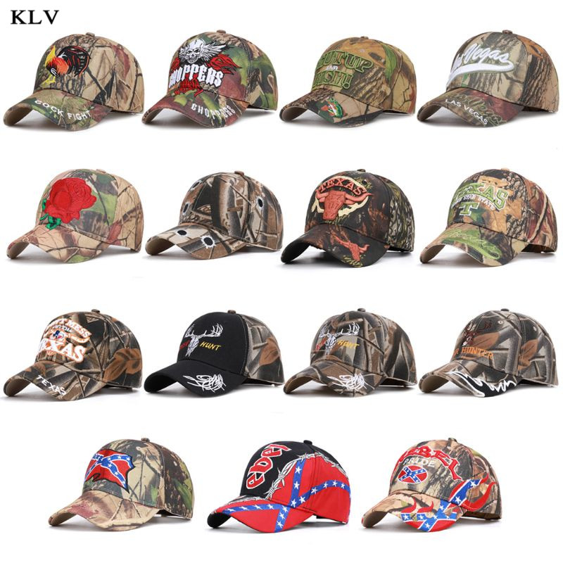 15 Types Men Women Camouflage   Baseball     Cap   Adjustable Animal Letter Embroidery Hunter Fishing Outdoor Sport Camo Trucker Sun Hat