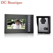 ( 1 Unidades ) de acceso alambre uno-a-uno de Video teléfono de la puerta versión de la noche CMOS lente 7 pulgadas TFT-LCD pantalla color de RFID card desbloqueo
