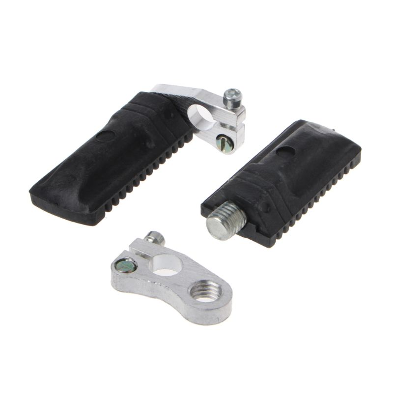 "NEW ATV PASSENGER FOOT PEGS RESTS PAIR DOUBLE RIDE PEDALS 8/"" RISE FOOTREST PEDAL"