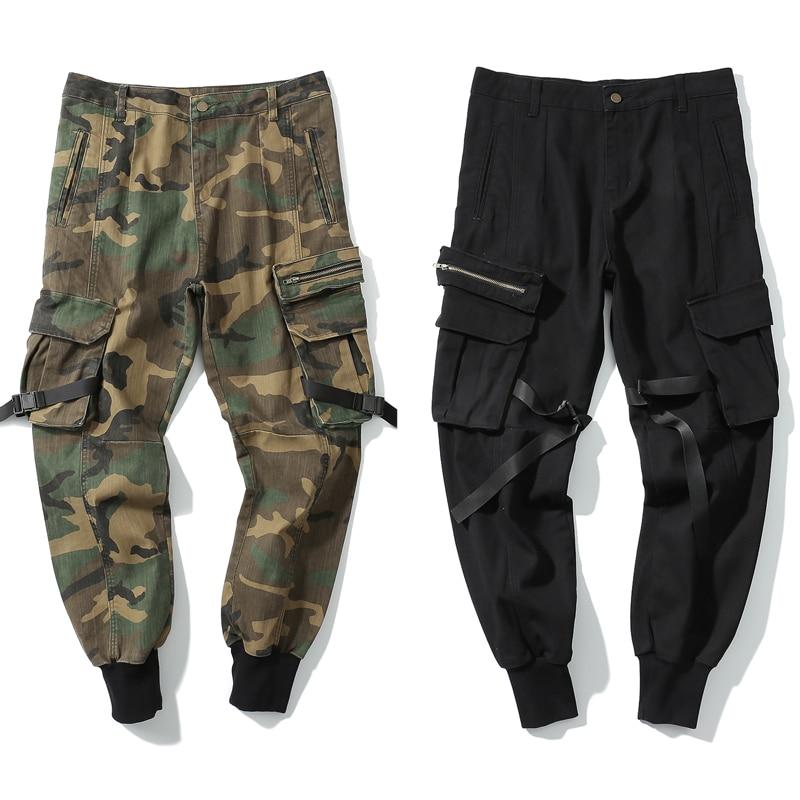 High Quality 2018 New Cargo Pants Joggers Full Length Pants Men Hip Hop Casual Sweatpants Men Overall Wear Hip Hop Pocket Pants